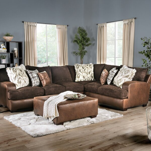 Siri Sectional Sofa with Ottoman by Loon Peak