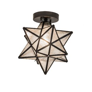 Modern contemporary moravian star pendant light allmodern moravian star 1 light flush mount aloadofball Image collections