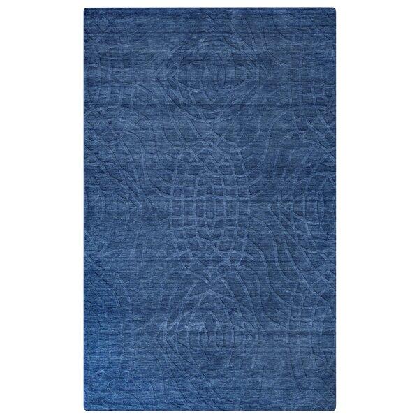 Yawal Hand-Loomed Blue Area Rug by Meridian Rugmakers