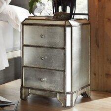 Arabella Mirrored 3 Drawer Nightstand by Hooker Furniture