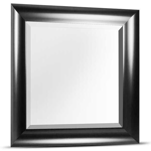 Horizontal Square Plastic Framed Wall Mirror by Winston Porter