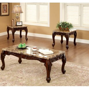 Albertus 3 Piece Coffee Table Set Astoria Grand