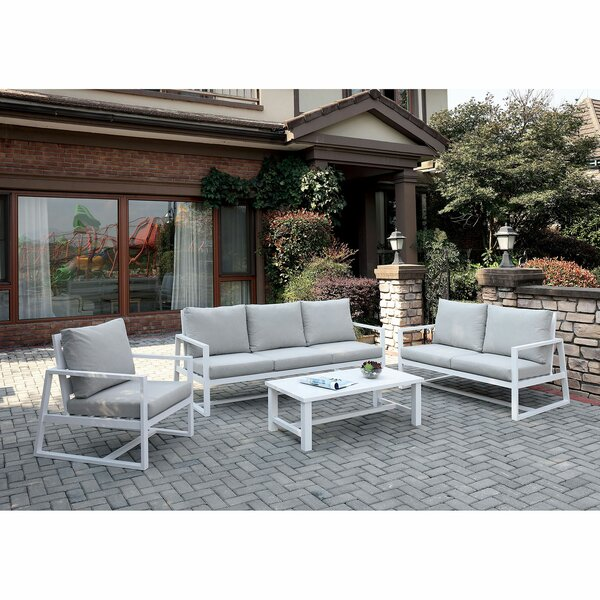 Lavelle 4 Piece Sofa Seating Group with Cushions by Orren Ellis
