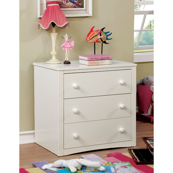 Eliseo Contemporary 3 Drawer Dresser by Zoomie Kids