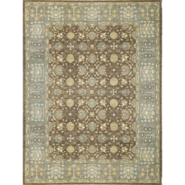 One-of-a-Kind Ziegler Wool Brown/Light Blue Indoor Area Rug by Bokara Rug Co., Inc.