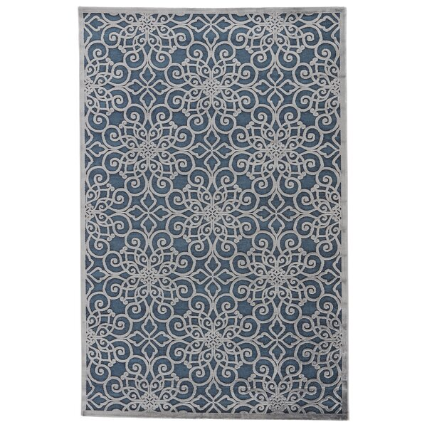 Ada Blue/Gray Area Rug by Charlton Home