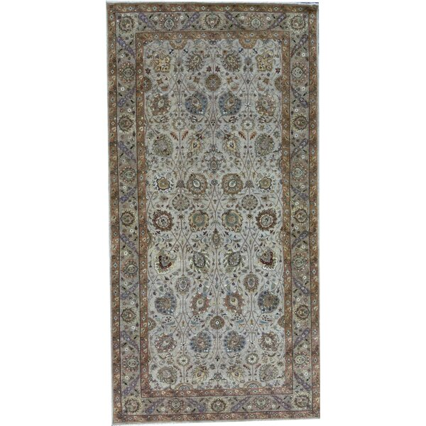 Hand-Knotted Wool Camel/Beige Rug