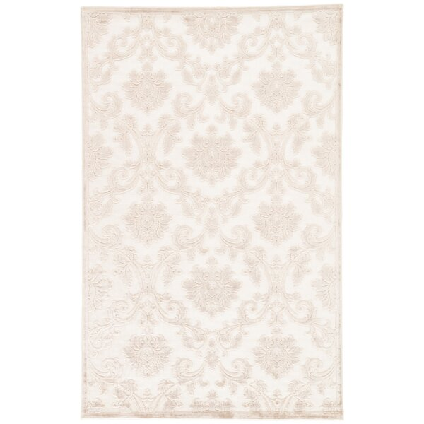 Ada Ivory/Beige Area Rug by Charlton Home