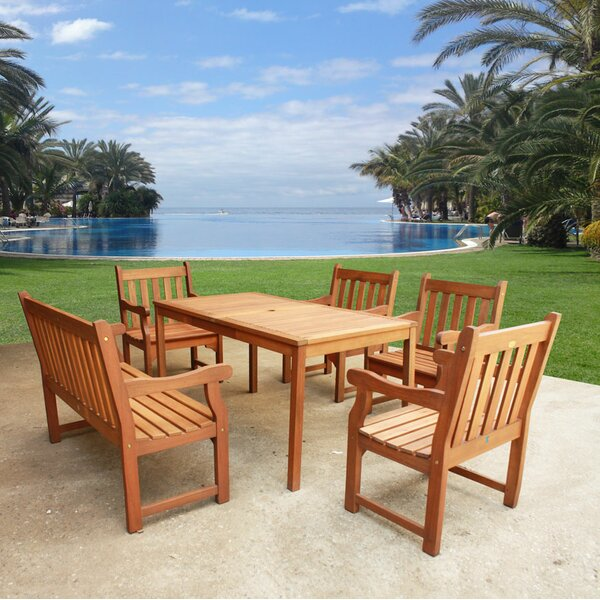 Roussel 6 Piece Dining Set by August Grove