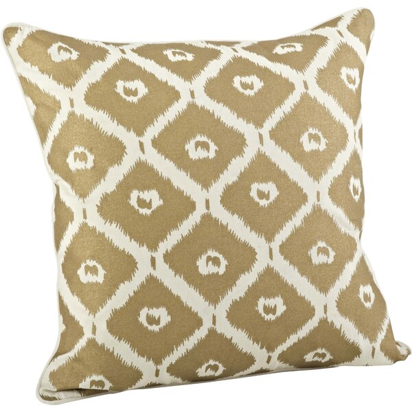 Olympia Printed Ikat Cotton Throw Pillow by Saro