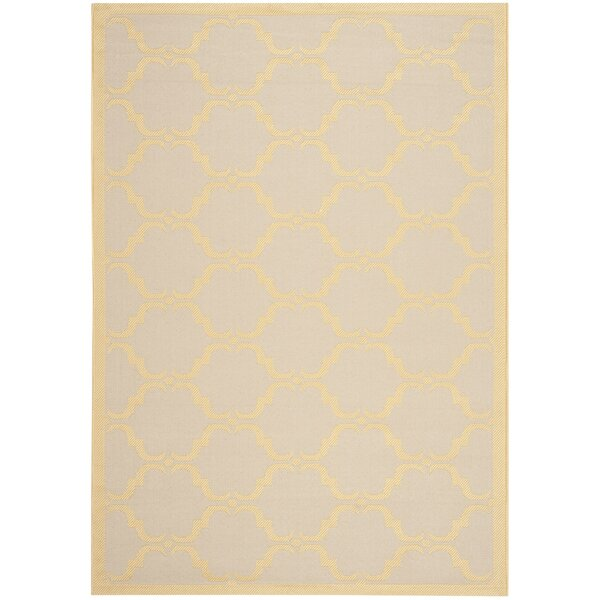 Pohl Tile Beige/Yellow Area Rug by Charlton Home