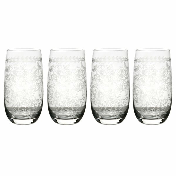 Botanic Garden 17 oz. Glass Every Day Glass (Set of 4) by Portmeirion