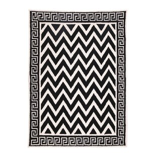 Best Reviews Melrose Black Hook Rug By D.L. Rhein