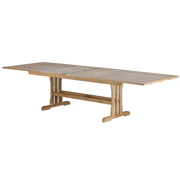 Geneva Teak Rectangular Double Extension Dining Table by Arbora Teak