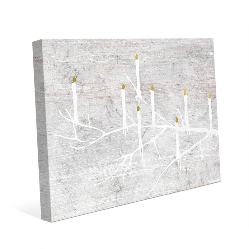 'Candle Tree Night' Graphic Art on Wrapped Canvas