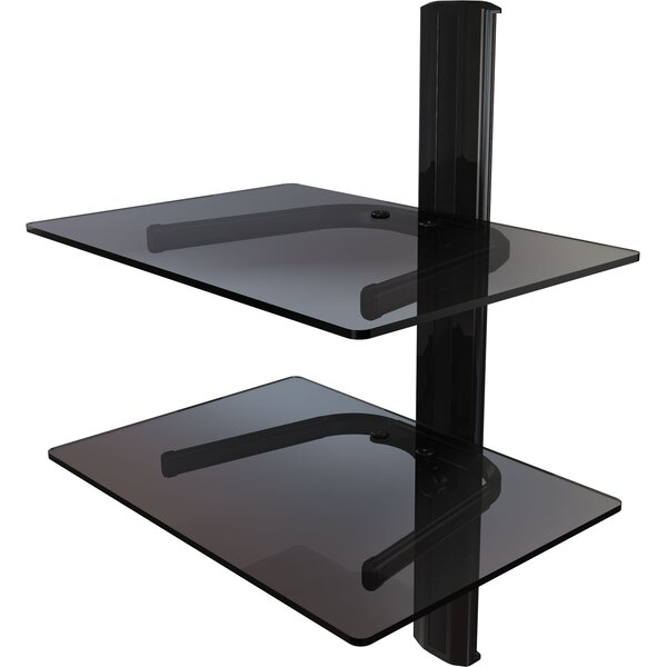 Dual Shelf Wall Mount System with Cable Management by Crimson AV