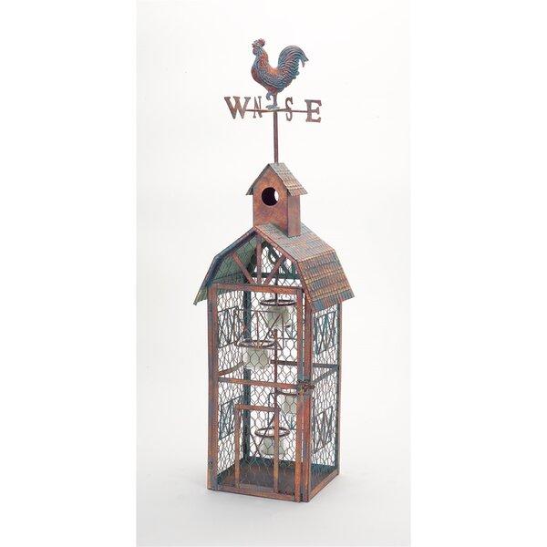 Chicken Wire Metal/Glass Lantern by Melrose International