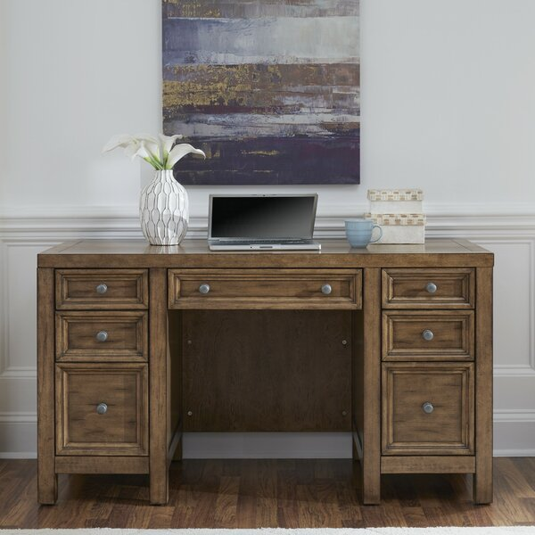 Milford Pedestal Desk by Canora Grey