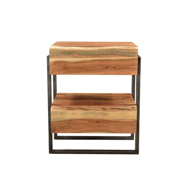 Manzo 2 Drawer Nightstand by Gracie Oaks