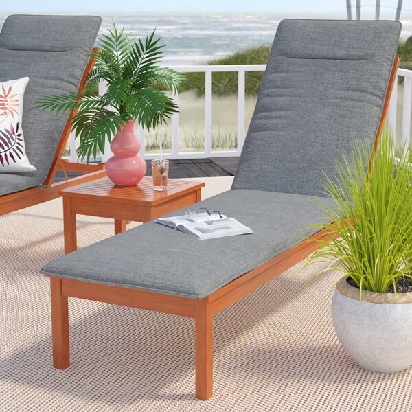 Kelleher Indoor/Outdoor Chaise Lounge Cushion by Rosecliff Heights