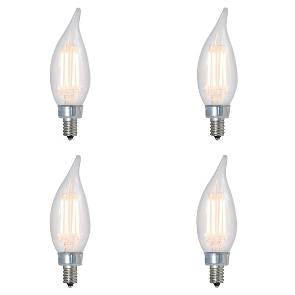 4.5W E12 Dimmable LED Candle Light Bulb (Set of 4) by Bulbrite Industries