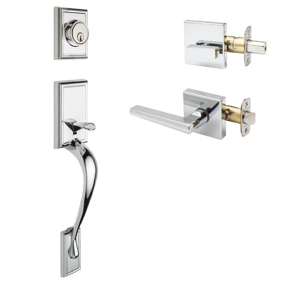 Fashion Single Cylinder Handleset with Verona Lever and Verona Trim by Copper Creek