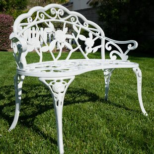 Incroyable White Cast Iron Garden Bench | Wayfair