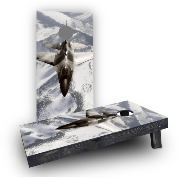Camo Jet Cornhole Boards (Set of 2) by Custom Cornhole Boards
