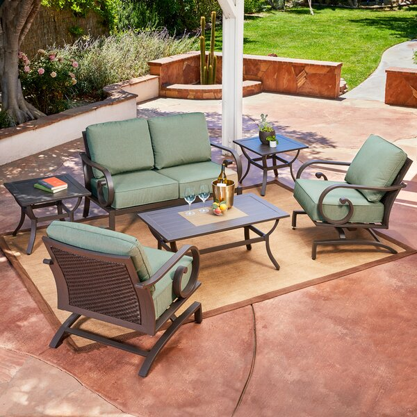 Kingston Seymour Milano 6 Piece Sofa Seating Group with Cushions by Bayou Breeze