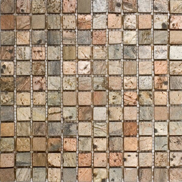 1 x 1 Slate Mosaic Tile in Copper by Epoch Architectural Surfaces