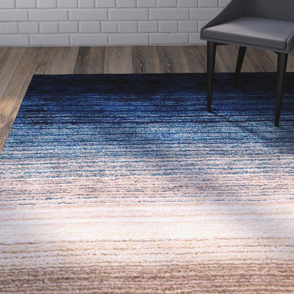 Antony Hand-Tufted Brown/Navy Area Rug by George Oliver