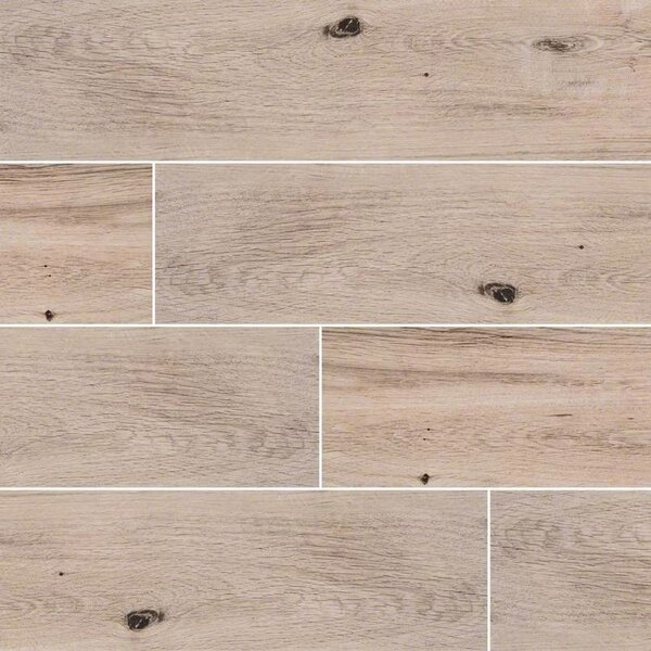 Palmetto Fog 6 x 36 Porcelain Tile Wood Look in Gray by MSI