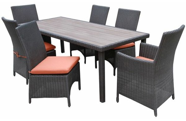 Denali 7 Piece Dining Set with Cushion by AE Outdoor