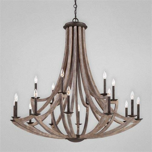 Jacklyn 18 - Light Candle Style Tiered Chandelier With Wrought Iron Accents By Gracie Oaks