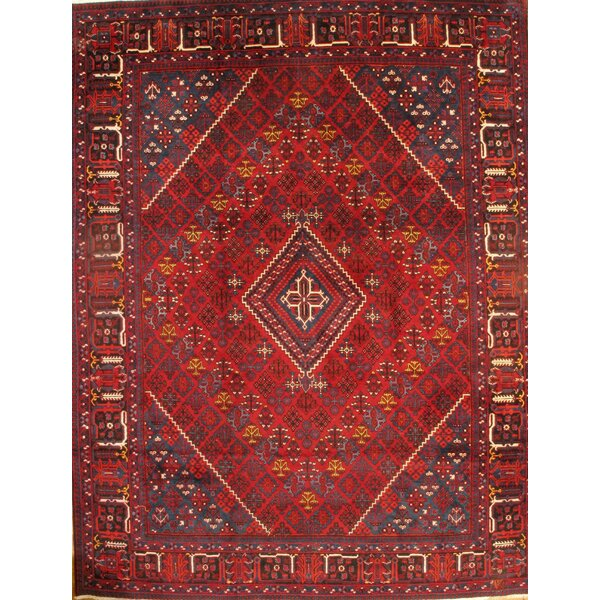 One-of-a-Kind Gribble Hand-Knotted Red/Blue/Beige 10'3 x 13'3 Area Rug