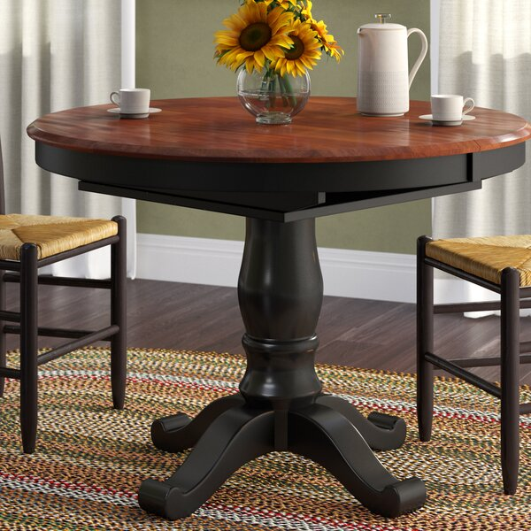 Nelle Extendable Solid Wood Dining Table by August Grove