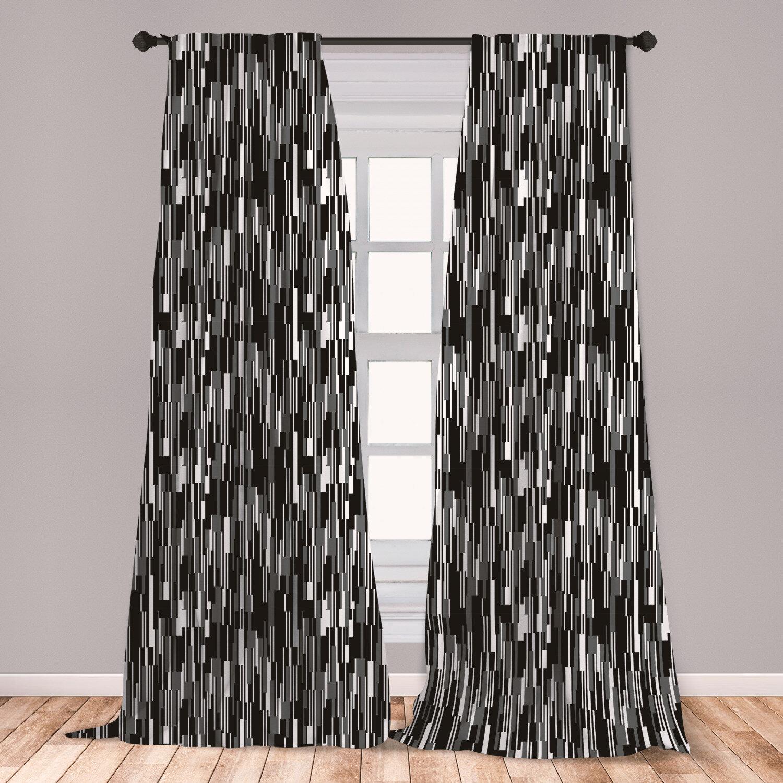 White Window Curtains Barcode