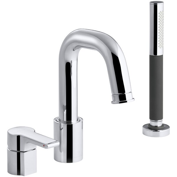 Singulier Deck-Mount Bath Filler with Handshower by Kohler