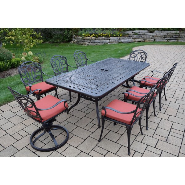 Berkley 9 Piece Dining Set with Cushions by Oakland Living