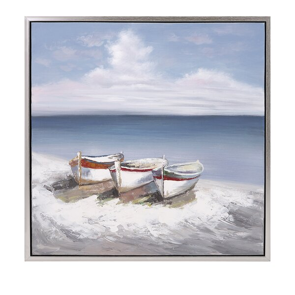 Seaside Oil Painting Print by Birch Lane™