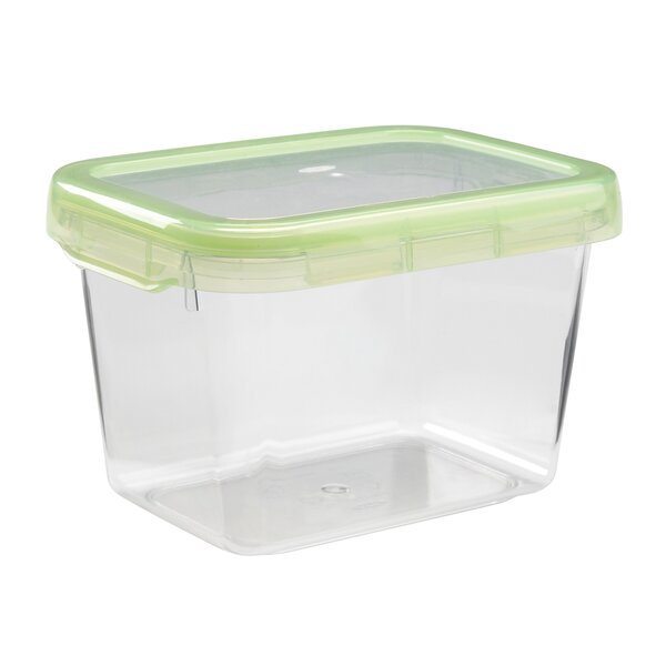 Good Grips Green Small Rectangle Locktop 5.5 Cup Food Storage Container By Oxo.