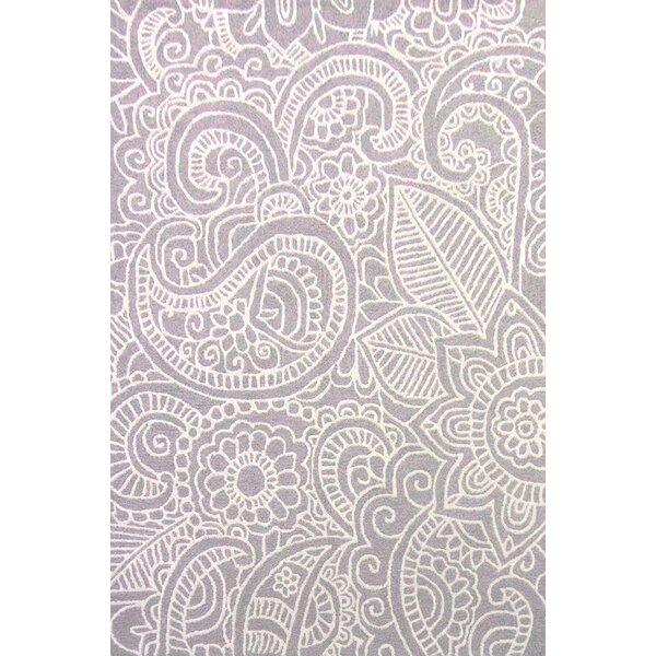 Glenford Hand-Hooked Purple Area Rug by Alcott Hill