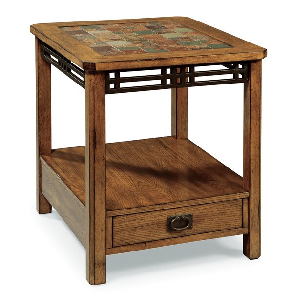 Shelldrake End Table With Storage By World Menagerie
