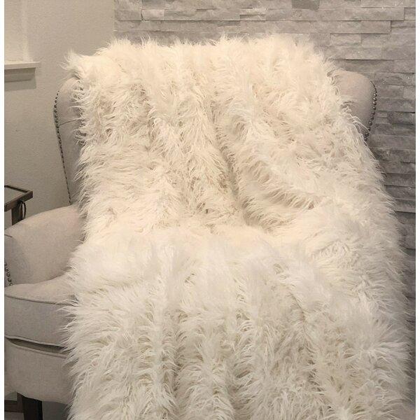 Fossett Faux Fur Acrylic Throw by Everly Quinn