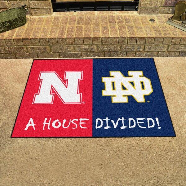 House Divided - Nebraska / Notre Dame Doormat by FANMATS