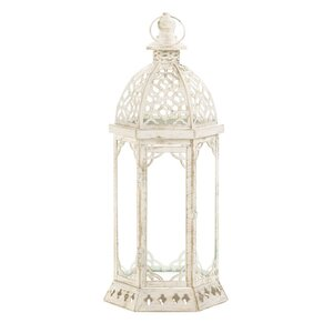 Graceful Iron and Glass Lantern