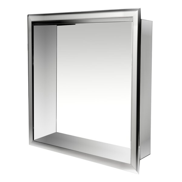 Square Stainless Steel Single Shower Niche by Alfi Brand