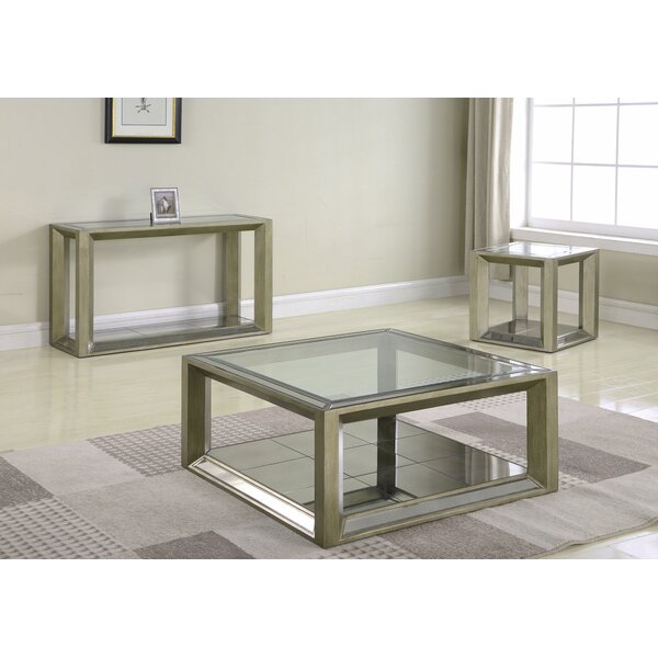 Laury 3 Piece Coffee Table Set By Everly Quinn