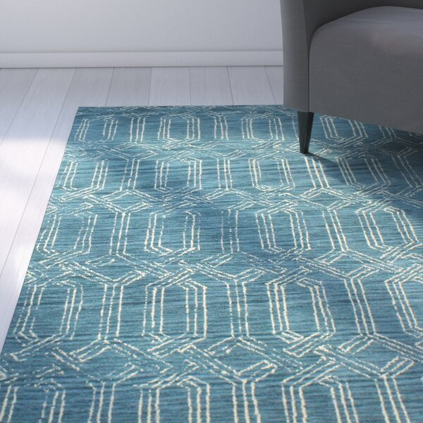 Bryden Hand-Tufted Azure Area Rug by Latitude Run