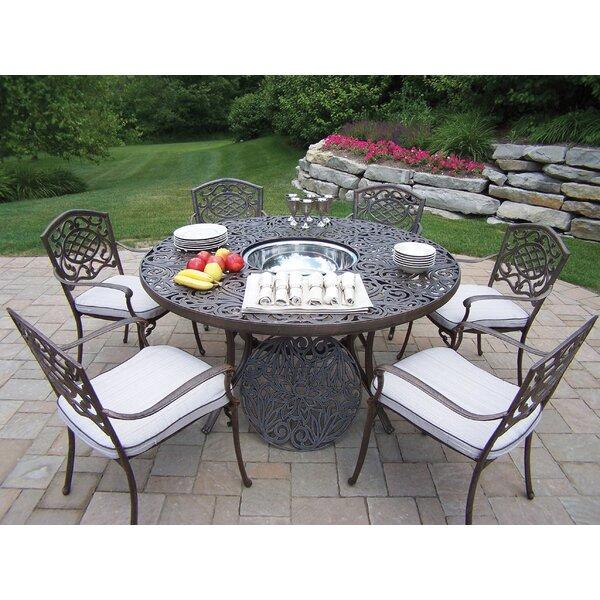 Mississippi Dining Set with Cooler Insert and Cushions by Oakland Living